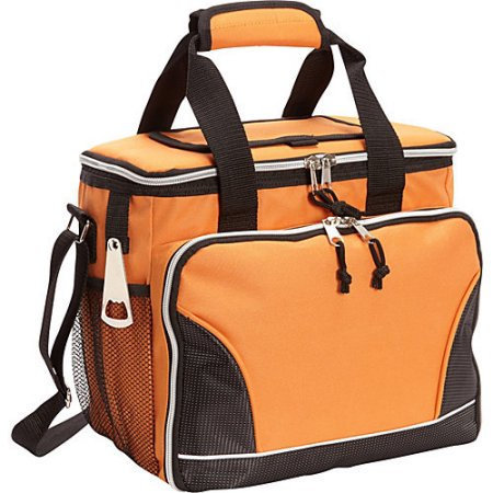 Bellino 24 Pack Cooler with Tray Orange - Bellino Travel Coolers