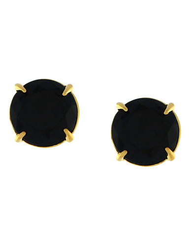 Vince Camuto Gold-Tone Round Stone Stud Earrings