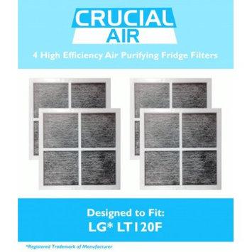 Crucial Air 4 LG LT120F Air Purifying Fridge Filters, Part # 9918 ADQ73334008 & ADQ73214404
