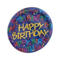 Hallmark Birthday Notes Party Plates - 8 CT