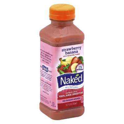 Naked Strawberry Banana All Natural Juice Smoothie 15.2 oz