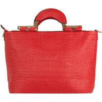 Vangoddy Samba Womana€ s Satchel Carrying Handbag /w Shoulder Strap (Red)