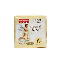 Fisher-Price Fisher Price Happy Days Baby Diapers Jumbo Pack, Size 6, 23 Count (Pack of 6)