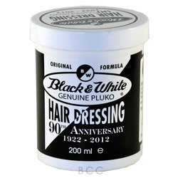 Black & White Genuine Pluko Hair Dressing Pomade
