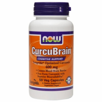 NOW Foods CurcuBrain Cognitive Support 400mg, Veggie Capsules, 50 ea
