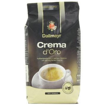 Dallmayr Gourmet Coffee, Crema D'Oro (Whole Bean), 17.6-Ounce Vacuum Packs (Pack of 2)