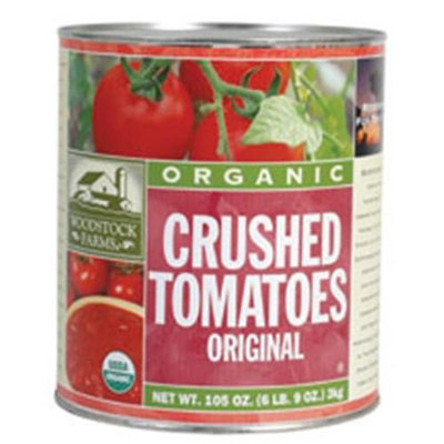 Woodstock Farms Woodstock Crushed Tomatoes Puree 105 Oz -Pack of 6