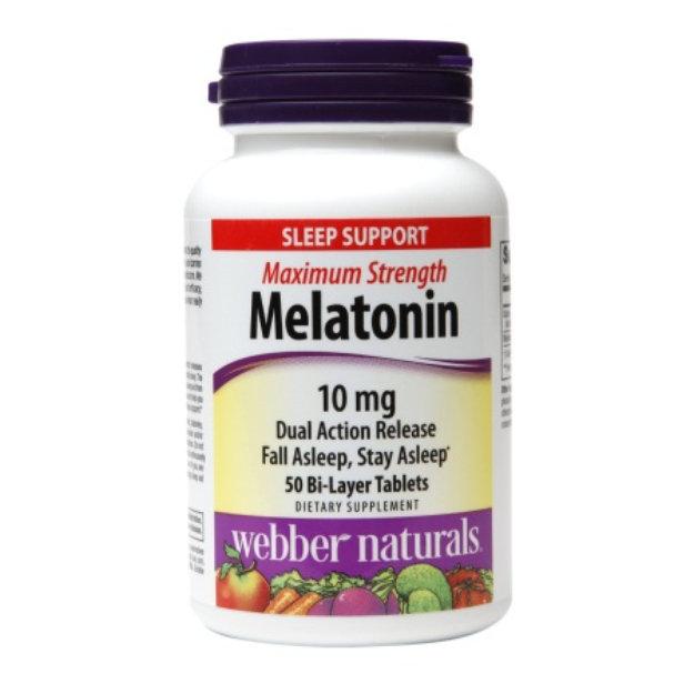 Webber Naturals Maximum Strength Melatonin 10mg, Tablets, 50 ea