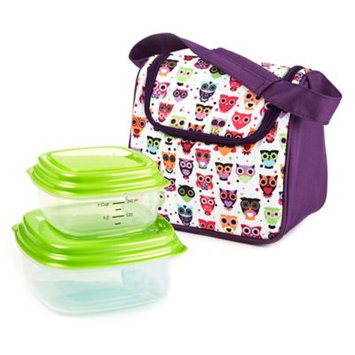 Fit & Fresh Morgan Insulated Kids Lunch Bag Kit with Reusable Containers