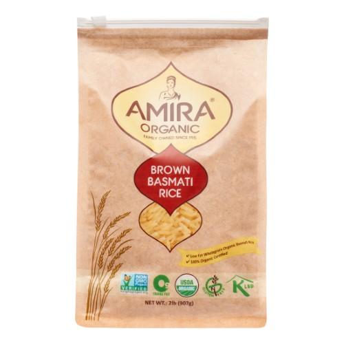 Amira Organic Brown Basmati Rice 2 lbs