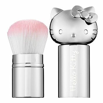 Hello Kitty Retractable Kabuki Brush - Silver