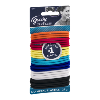 Goody Ouchless No Metal Elastics - 27 CT