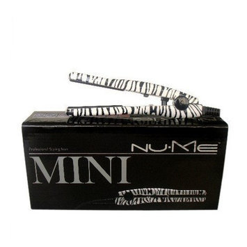 NuMe Mini Zebra Tourmaline Ceramic Flat Iron / Hair Straightener Dual Voltage 110v-240v