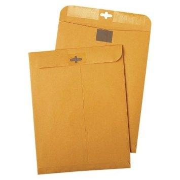 Quality Park Postage Saving ClearClasp Kraft Envelopes - Brown (100