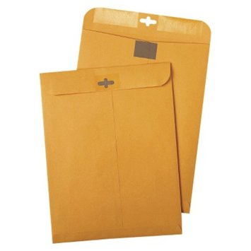 Quality Park Postage Saving ClearClasp Kraft Envelopes - Brown (100