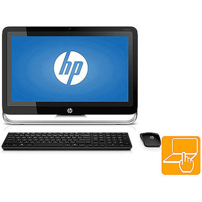 Hewlett Packard HP Pavilion TouchSmart 21-h013w All-in-One Desktop PC with Intel Pentium G3220T Processor, 4GB Memory, 21.5