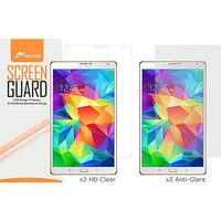 rooCASE 4-Pack Screen Protectors (2 HD Clear & 2 Anti Glare) for Samsung Galaxy Tab S 8.4 SM-T700
