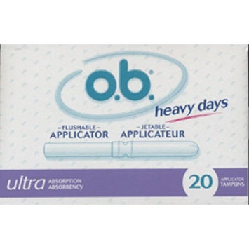O.B. Heavy Days Flushable Applicator Ultra Absorbency 20 Tampons