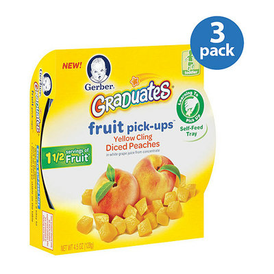 Gerber Graduates Fruit Pick-Ups Yellow Cling Diced Peaches