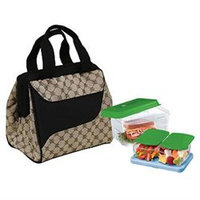 Fit & Fresh 372Ff16 Light Brown Lunch Kit Downtown With Log