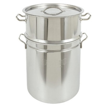 Barbour International Bayou Classic Stainless Stockpot & Steamer - 36 Qt.