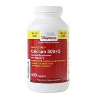 Walgreens Calcium 500+D Tablets Value Size