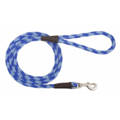 Mendota Products Mendota Snap Dog Leash - Diamond Sapphire - 1/2 in x 6 ft