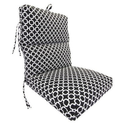Jordan Outdoor Deluxe Chair Cushion - Black/White Geometric