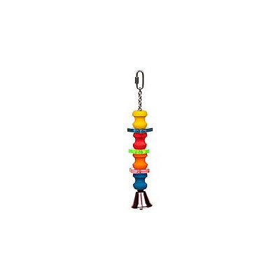 Jungle Talk by eCOTRITION Play Medium Bird Toy with Colored Disks, 11 Length