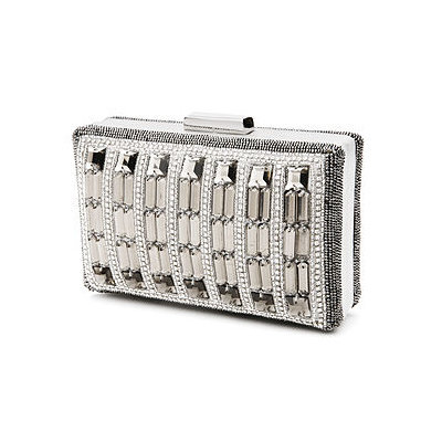 MOYNA Bags Box Bag with Glass Beads and Crystals