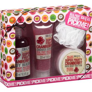NSPA Pick Me! Cranberry Bath Gift Set, 4 pc