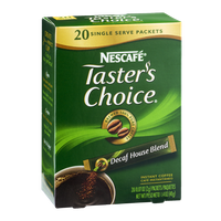Nescafe Taster's Choice Decaf House Blend Instant Coffee Packets - 20 CT