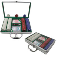Sierra Accessories Trademark Poker 200 11.5g SUITED Chips w/Clear Cover Aluminum Case