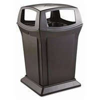 Rubbermaid Commercial Products Ranger Fire-Safe Square Container in Black