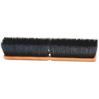 LAITNER 207 Push Broom Head, Tampico, Black,3-1/2in