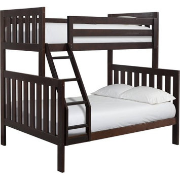 Canwood Furniture Lakecrest Twin Over Full Bunk Bed Finish: Espresso