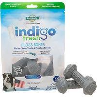 Pet Safe PetSafe Indigo Fresh Floss Bone Dog Treat Medium