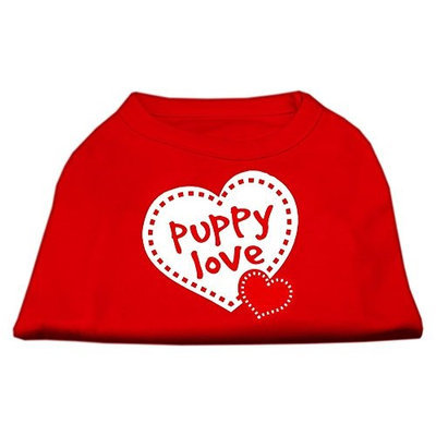 Mirage Pet Products 5159 SMRD Puppy Love Screen Print Shirt Red Sm 10