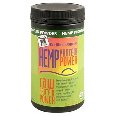 Ruths Hemp Foods Ruth's Organic Hemp Raw Protein Power, 16-Ounce Cainsters (Pack of 2)