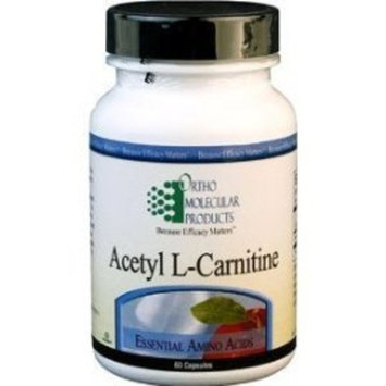 Ortho Molecular Product Acetyl L-Carnitine -- 500 mg - 60 Capsules