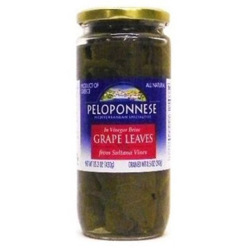 Peloponnese Grape Leaves In Vinegar Brine, 8.5 OZ (Pack of 1)
