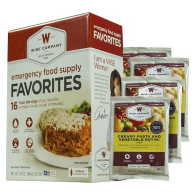 Wise Company Wise Food Emergency Food Supply Favorites