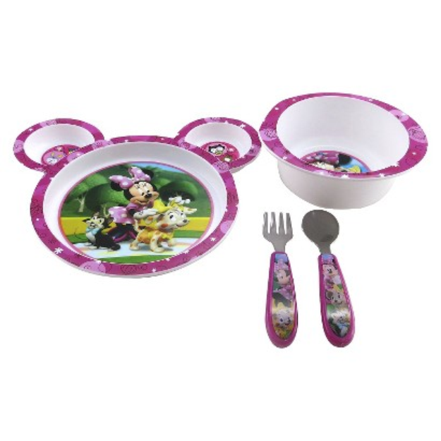 The First Years Disney Minnie Mouse 4 Piece Feeding Set