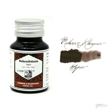 Rohrer & Klingner 50 ml Bottle Fountain Pen Ink, Sepia