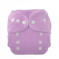 Thirsties Duo Fab Fitted Snap Cloth Diapers, Orchid, Size Two (18-40 lbs)