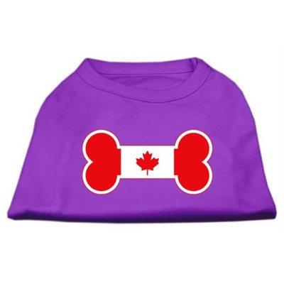 Mirage Pet Products 5110 XXXLPR Bone Shaped Canadian Flag Screen Print Shirts Purple XXXL 20