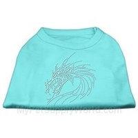 Mirage Pet Products 5226 MDAQ Studded Dragon Shirts Aqua M 12