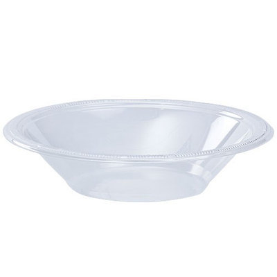 King Zak Ind Lillian Tablesettings 80220 Solid Color 12 Oz Clear Plastic Bowl - 600 Per Case