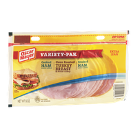 Oscar Mayer Extra Lean Variety-Pak Cooked Ham, Oven Roasted Turkey Breast and Smoked Ham