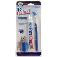 Four Paws Oral Hygiene Kit with Dual Action Toothbrush